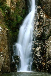 Vista da cachoeira vale do céu.