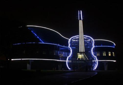 Piano House com iluminação de LED (Foto: divulgação)