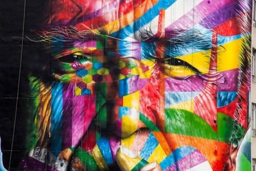 Mural homenageia Oscar Niemeyer (Foto: divulgação)