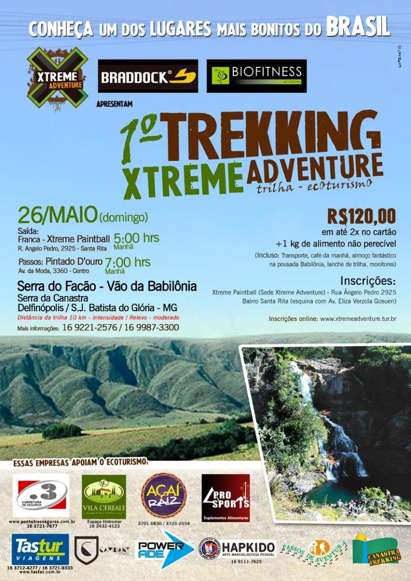 Cartaz de divulgação do 1º Trekking Xtreme Adventure