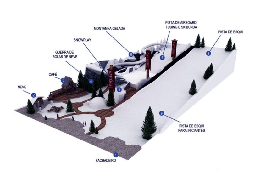 Mapa do parque (Fonte: Divulgação)