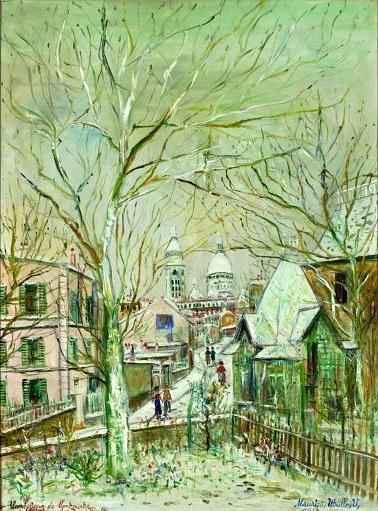 Utrillo - Paisagem de Montmartre em 1934